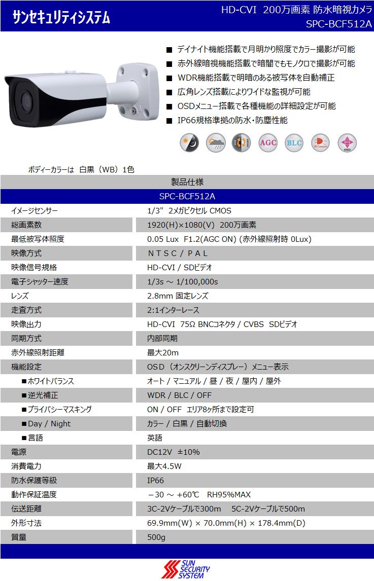 仕様書SPC-BCF512A